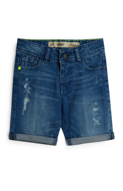 Younger Boy Indigo Denim Shorts