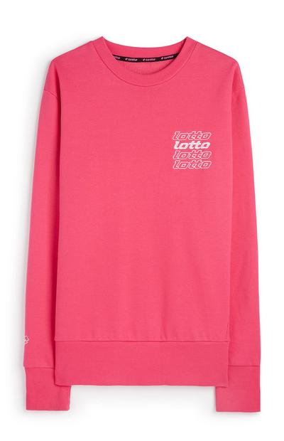 Jersey rosa de cuello redondo Lotto