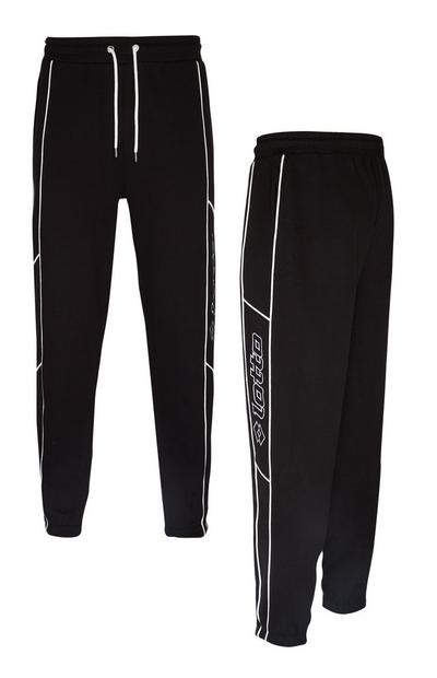 Lotto Black Piping Joggers