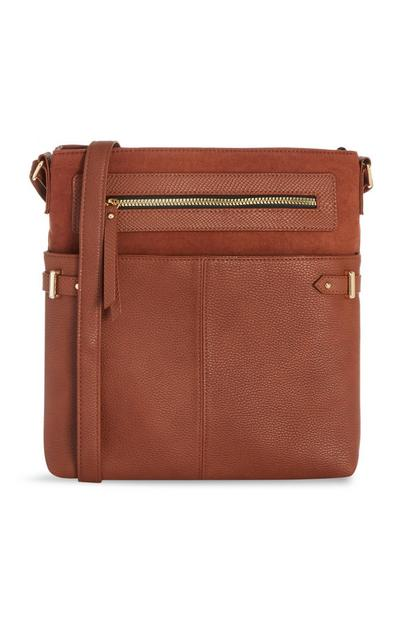 Brown Pocket Messenger Bag