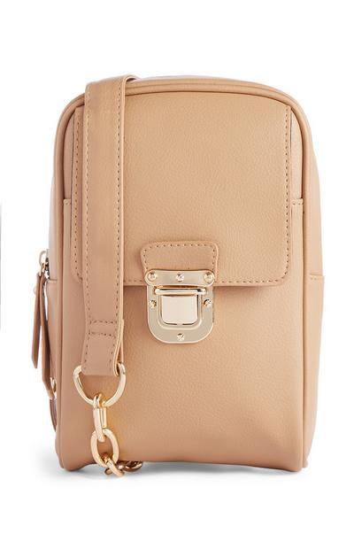 Nude Chain Shoulder Bag