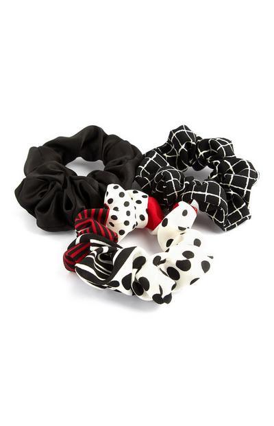 Pack de 3 minicoleteros en negro, rojo y blanco de Mini