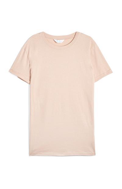 T-shirt oversize color cipria
