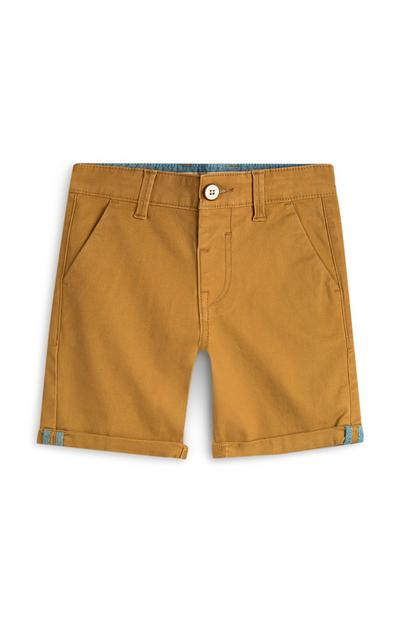 Short chino jaune moutarde garçon