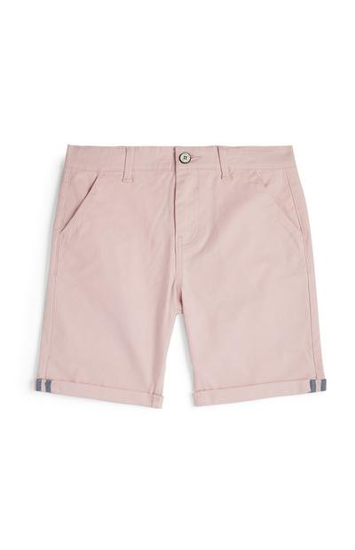 Younger Boy Pink Chino Shorts