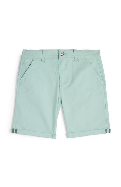Younger Boy Mint Chino Shorts