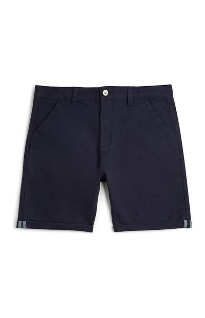 Temno modre kratke hlače chino za dečke