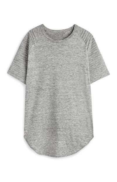 Siva majica z raglan rokavi