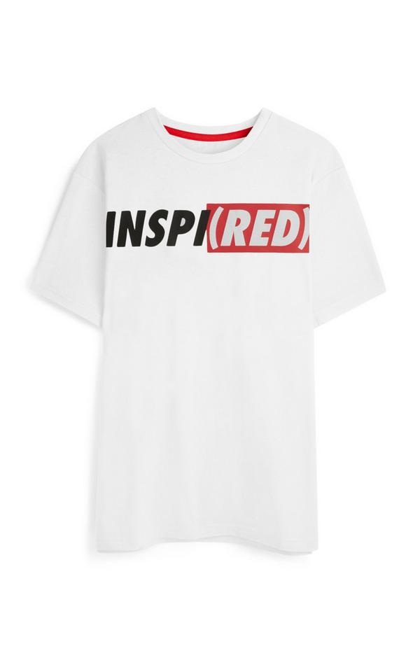 T-shirt bianca Inspired RED