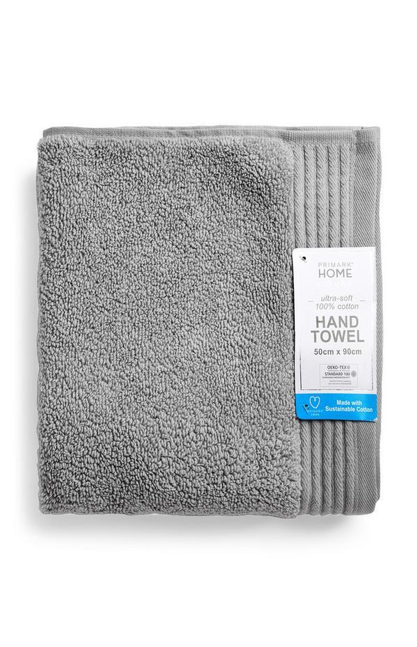 Graues hochwertiges Handtuch