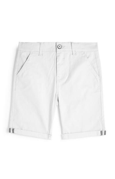 Older Boy White Chino Shorts