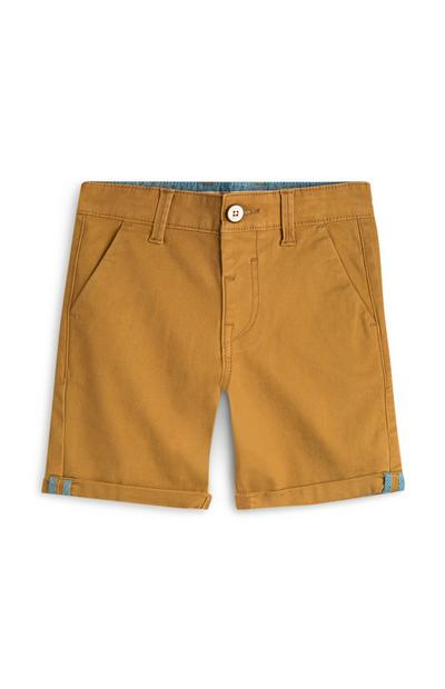 Short chino jaune moutarde ado