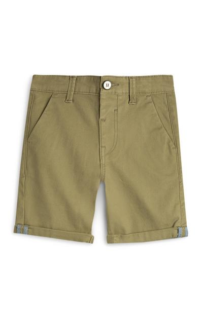 Older Boy Khaki Chino Shorts