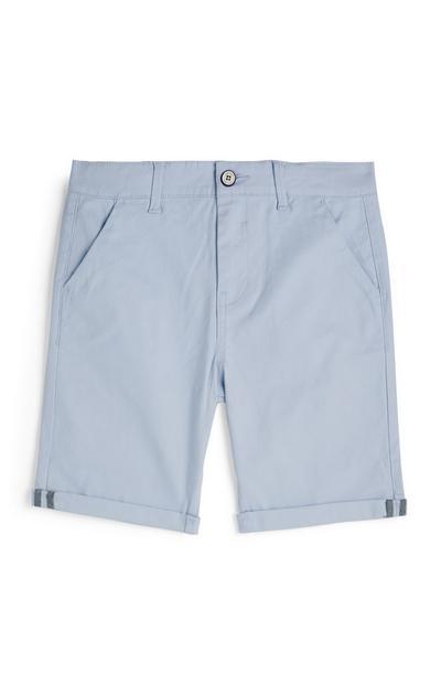 Older Boy Light Blue Chino Shorts