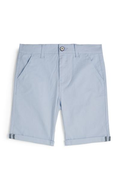 Older Boy Light Blue Chino Shorts