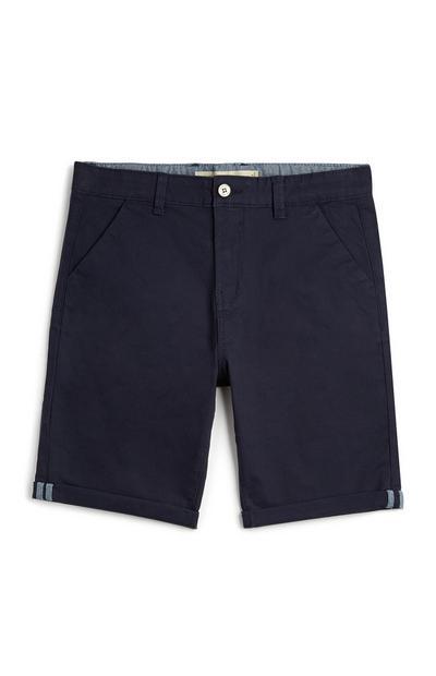 Older Boy Navy Chino Shorts