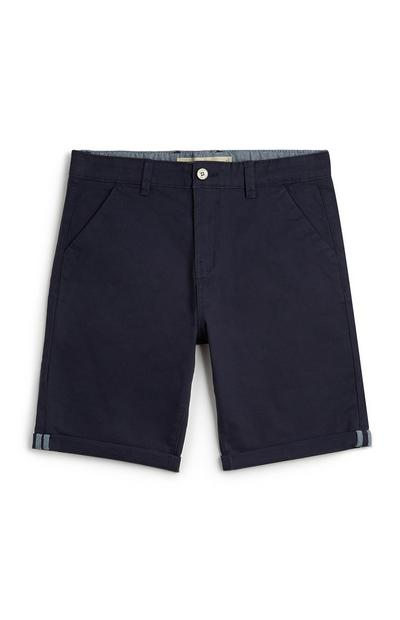 Older Boy Navy Chino Shorts
