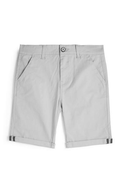 Older Boy Gray Chino Shorts