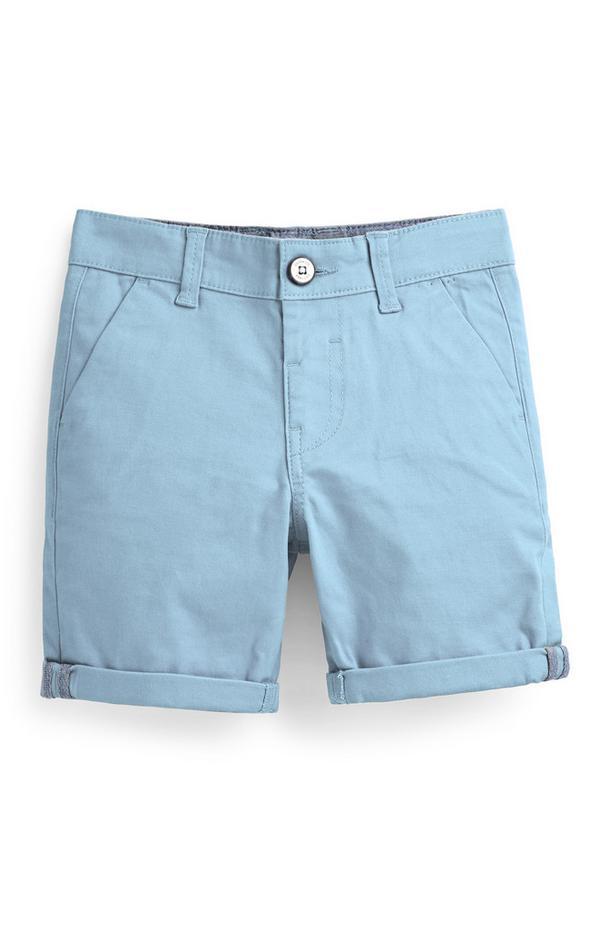 Short chino bleu garçon