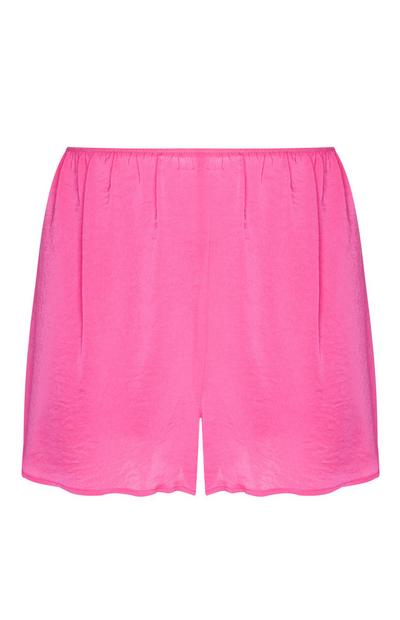 Short rose en satin