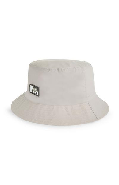Grey Nylon Bucket Hat