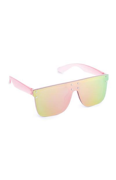 Rosafarbene, verblasste Sonnenbrille (kleine Mädchen)