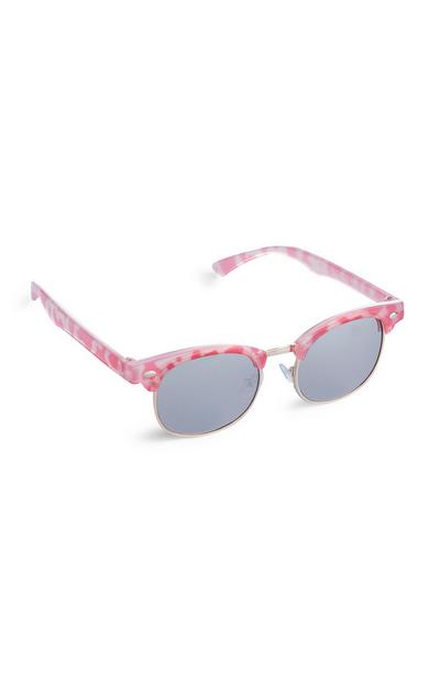 Younger Girl Pink Leopard Print Sunglasses