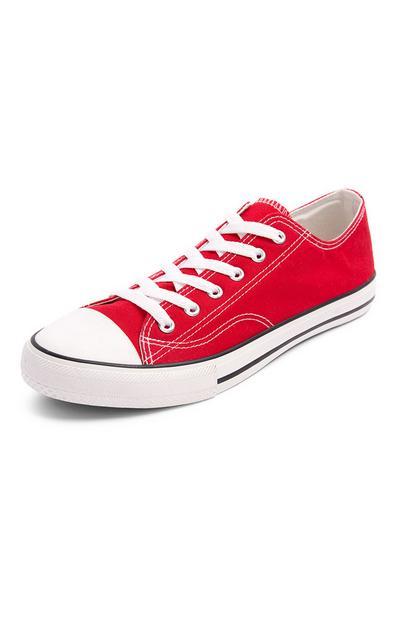 Zapatillas clásicas de caña baja de color rojo