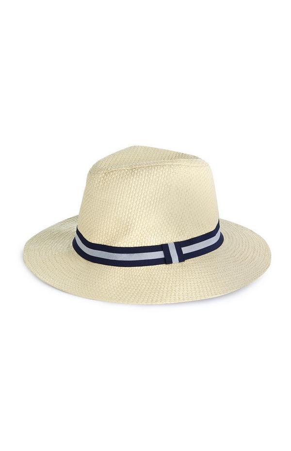 Chapeau en paille naturelle à larges bords