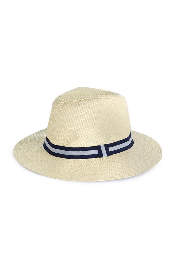 Chapéu palhinha aba larga natural