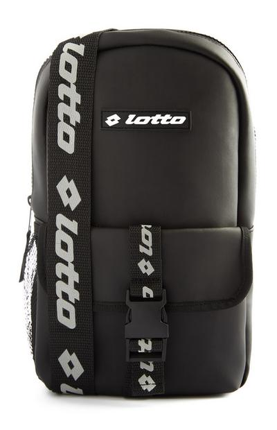 Black Lotto Sling Buckle Bag