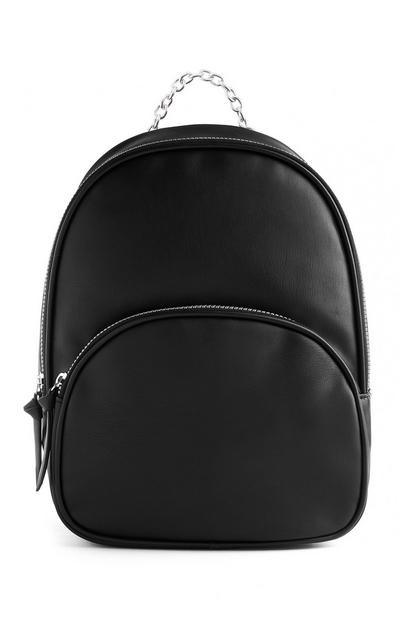 Black Vegan Chain Backpack