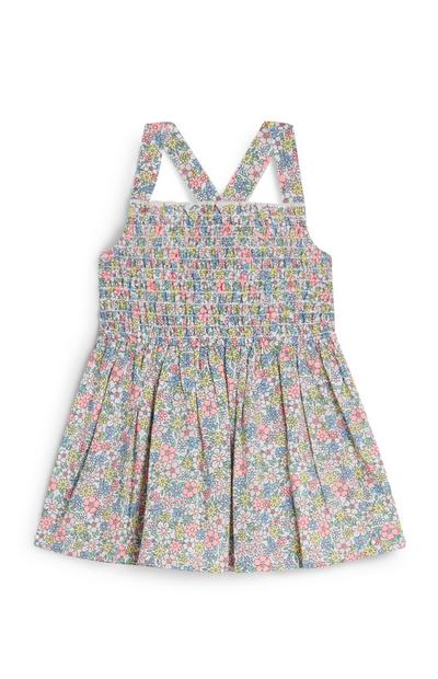 Baby Girl Mini Floral Print Woven Dress
