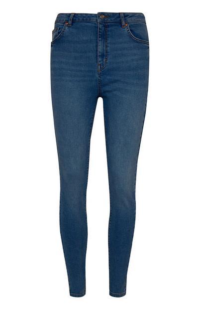 Jean skinny bleu foncé taille haute