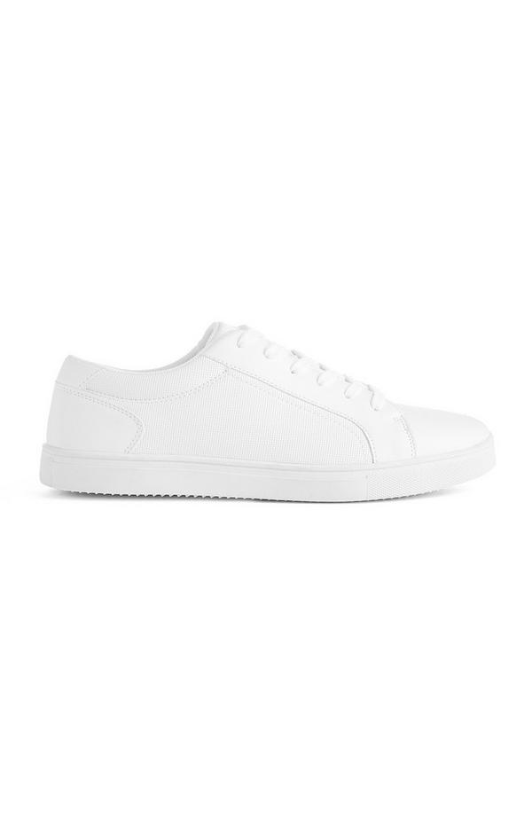 Weiße Low-Top-Sneaker