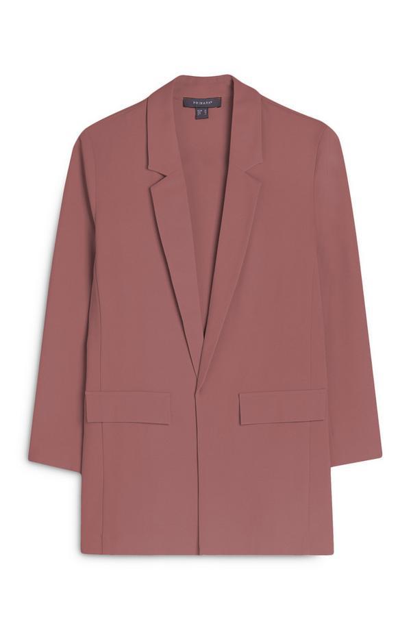 Roze blazer van twill-katoen