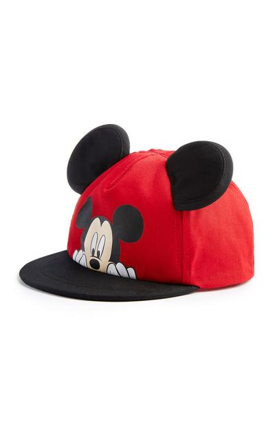 Baby Boy Red Mickey Mouse Ears Cap