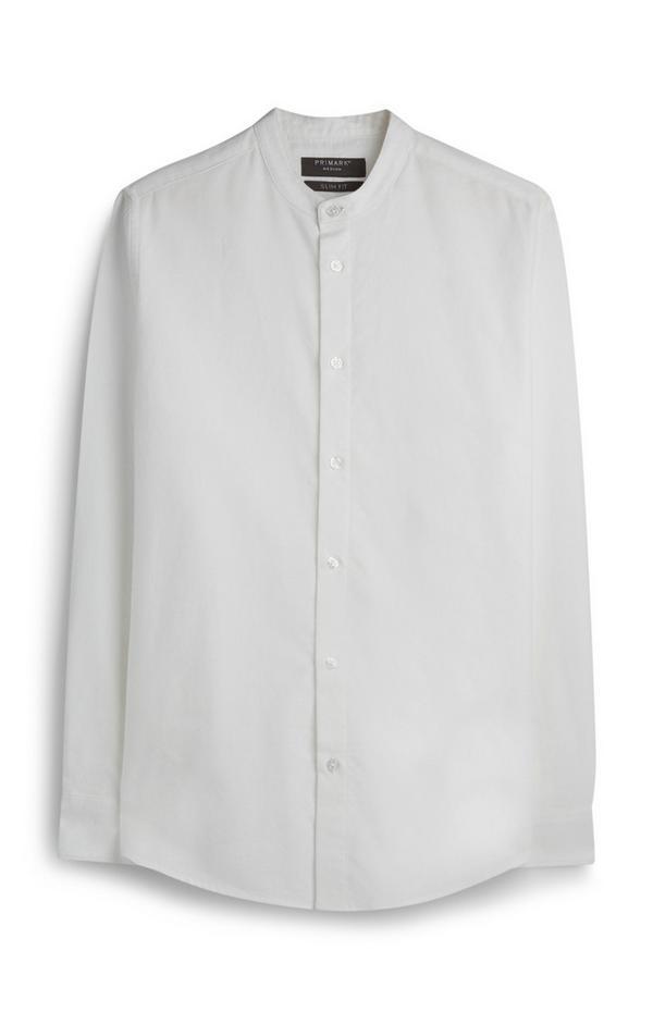 Wit overhemd zonder kraag