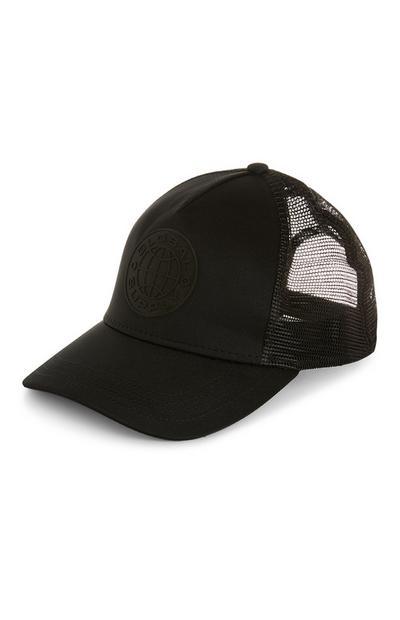 Black Mesh Trucker Cap
