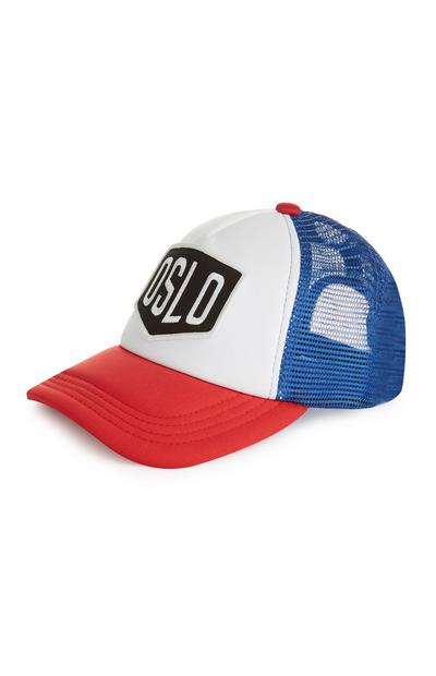 "Baseball Cap in Blockfarben mit ""Oslo""-Aufnäher"