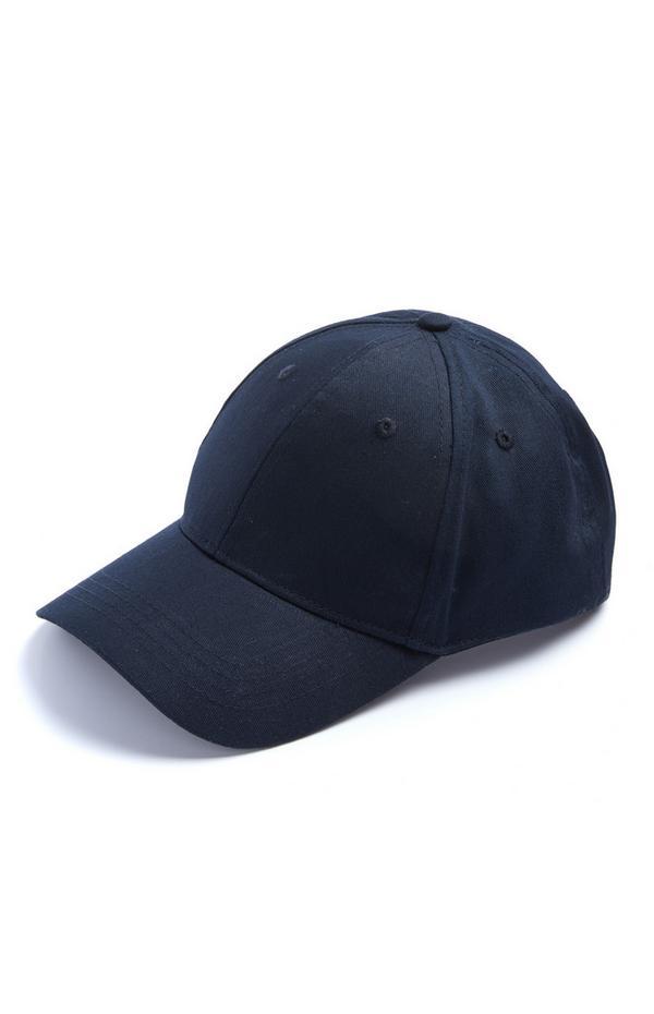 Effen donkerblauwe honkbalpet