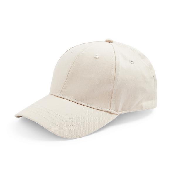 Solid Ecru Baseball Cap