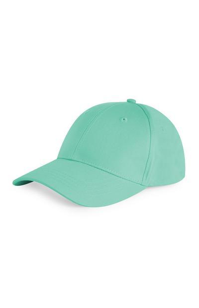 Effen groene pet