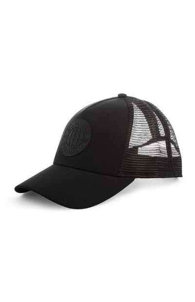 Schwarze Kappe mit Mesh-Einsatz