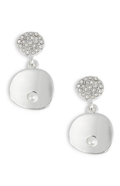 Viseči uhani z diamanti in biseri