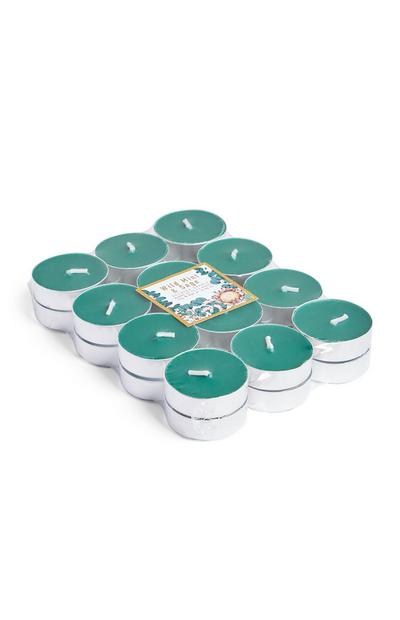 24-Pack Wild Mint And Sage Scented Tealights