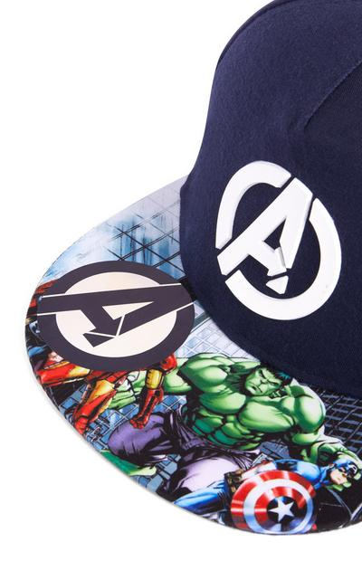Navy Marvel Avengers Flat Peak Cap