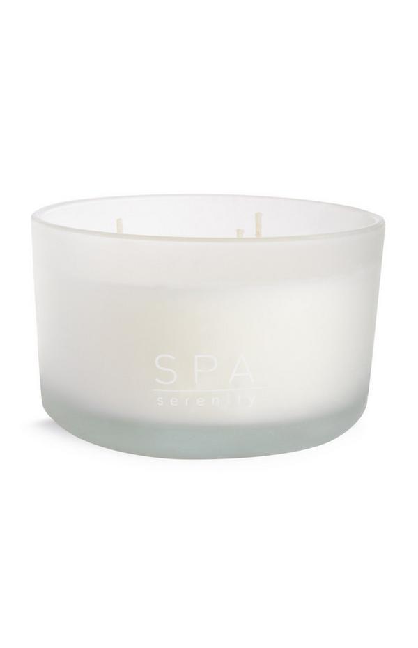 Bela sveča z 3 stenji Spa