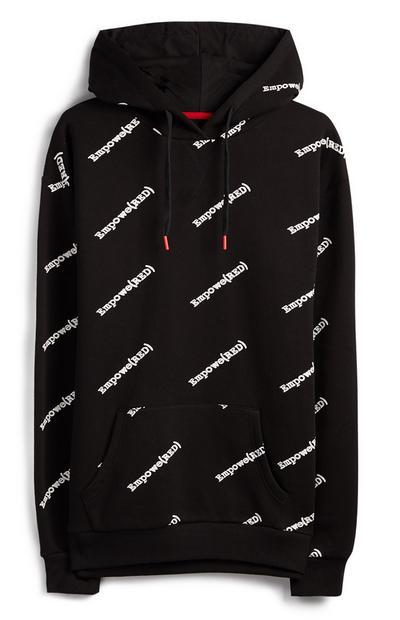 Sweat à capuche noir avec logo Empowered RED