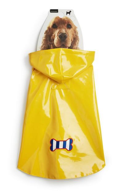 Impermeável animal estimação amarelo